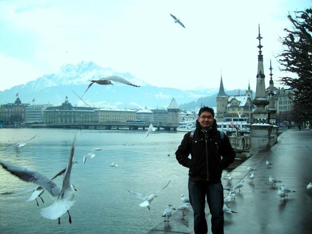 Ditemani burung-burung di Luzern =)